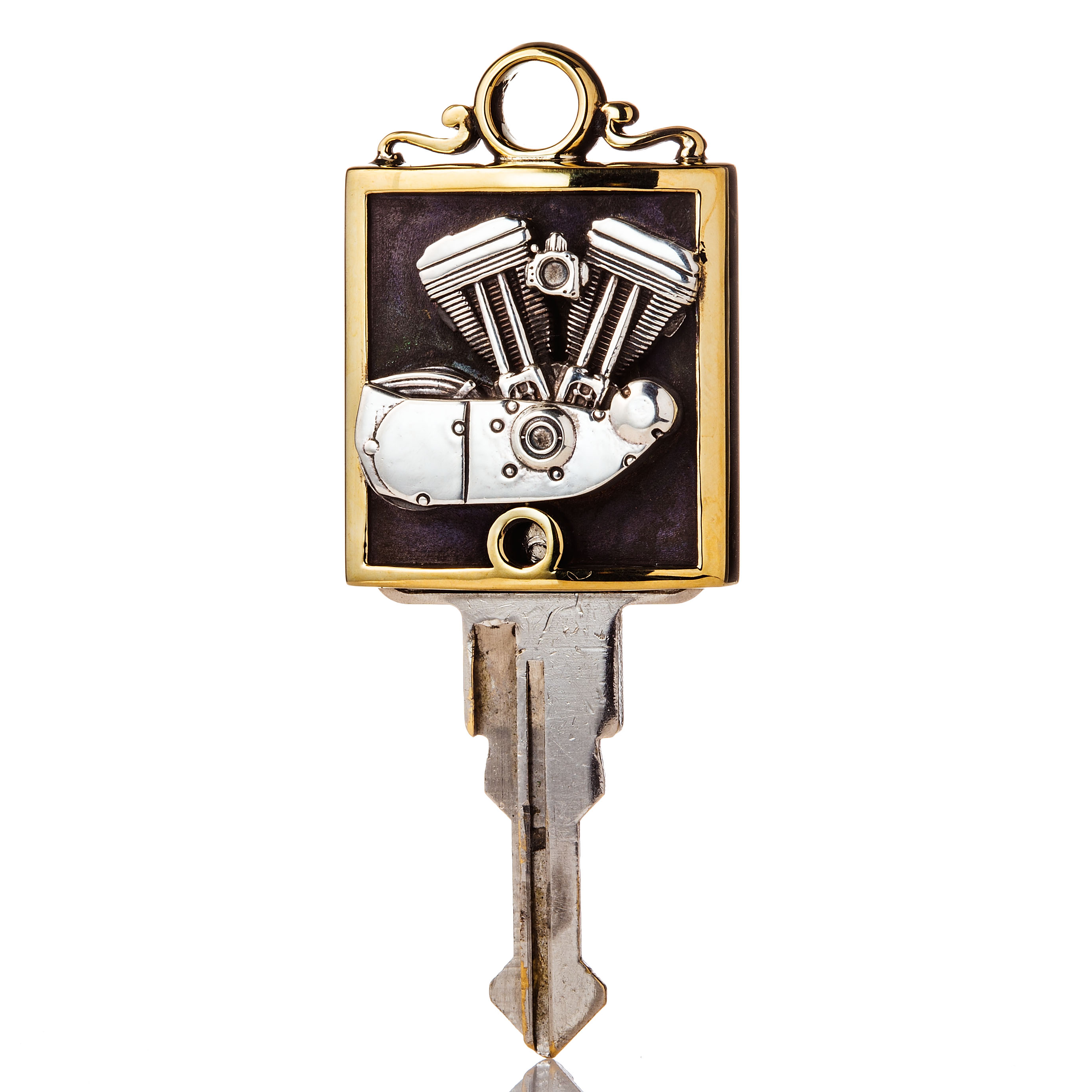 SPORT STER KEY COVER  BRASS & SILVER