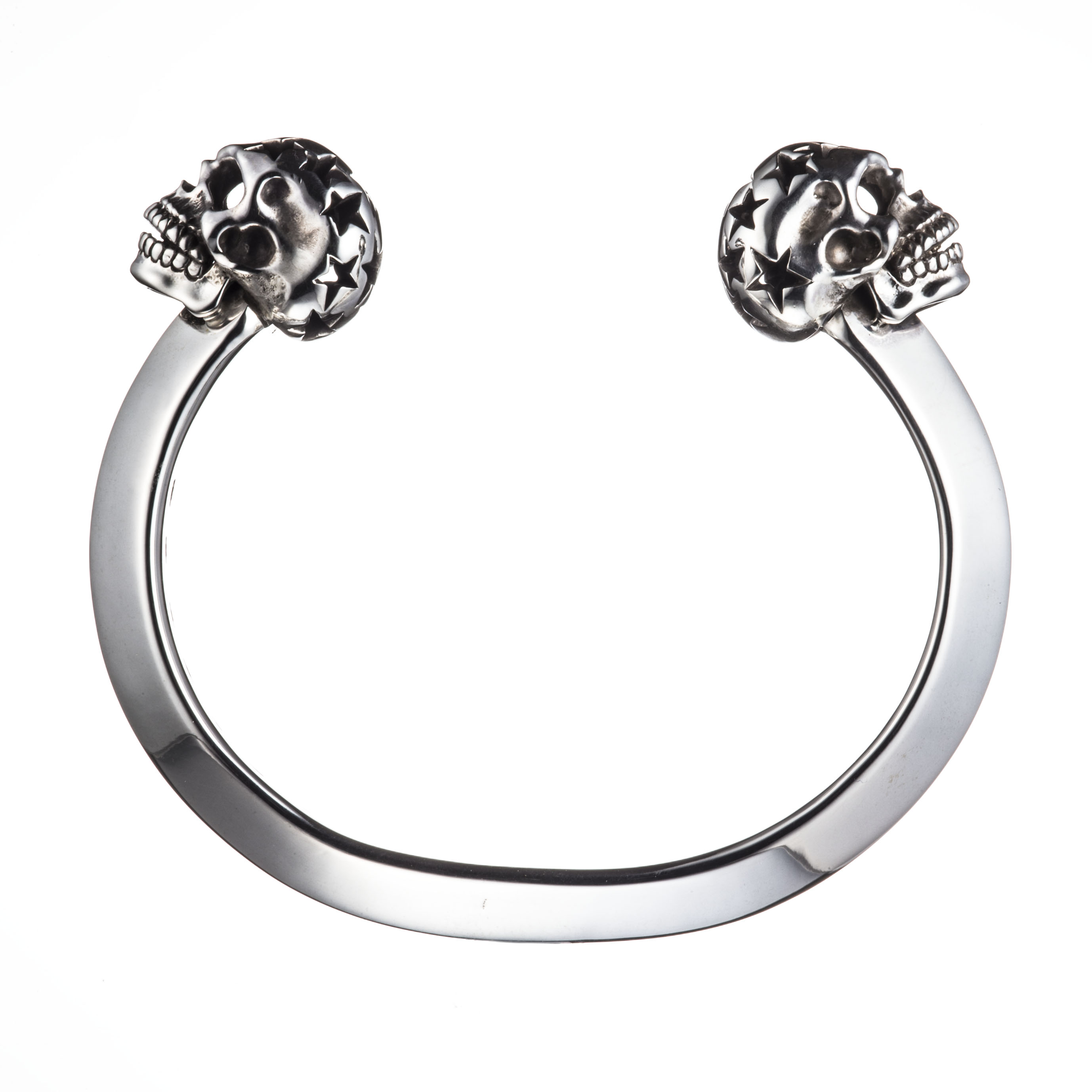TWIN SKULL BANGLE (STAR SKULL)